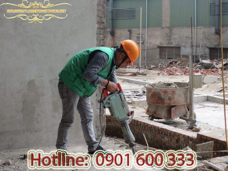 Bảng báo giá khoan cắt bê tông, đục phá bê tông, phá dở công trình