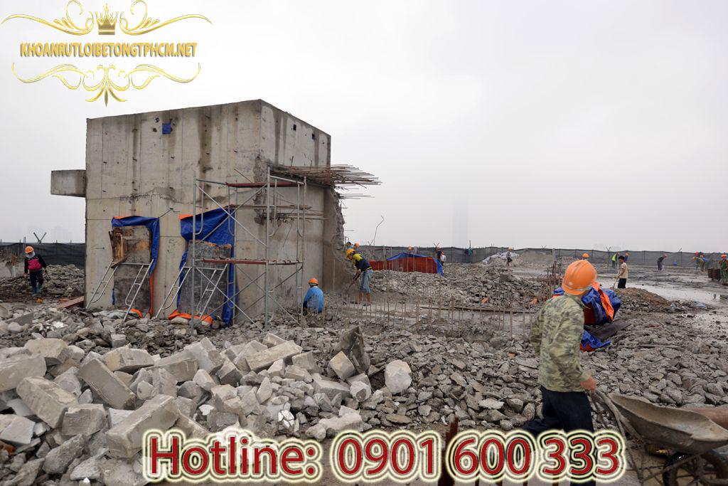 Bảng báo giá khoan cắt bê tông, đục phá bê tông, phá dở công trình tại Đồng Nai